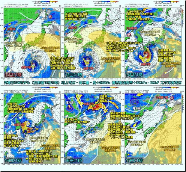 台風GSM190811