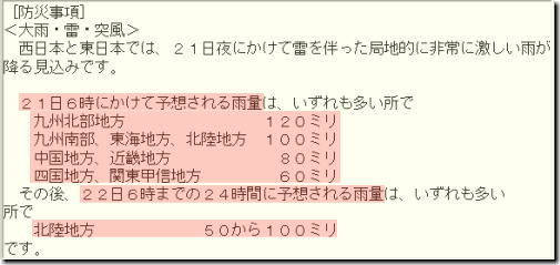 気象情報190820