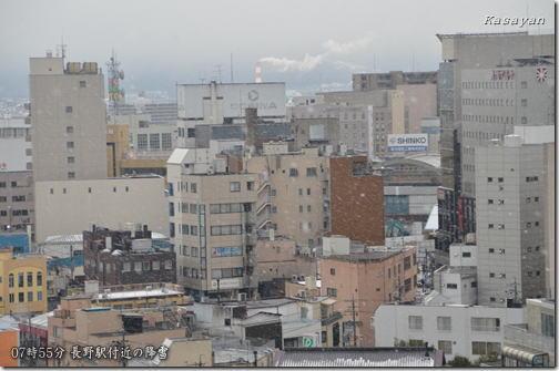 長野駅の降雪131227