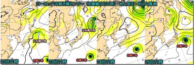 台風ECMWF191020