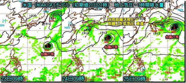 GFS台風21号3コマ191022