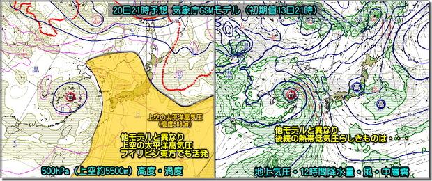 台風GSM20日21時190714