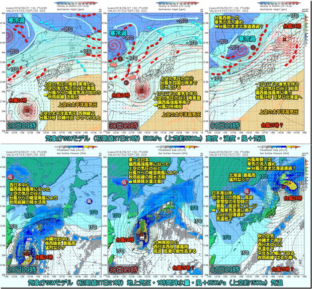 台風GSM3コマ180928