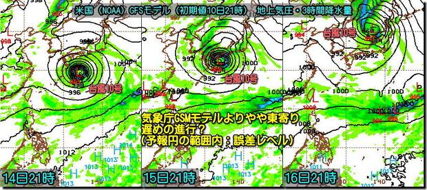 台風GFSモデル190811