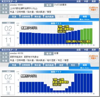 アメダス積雪実況グラフ200211