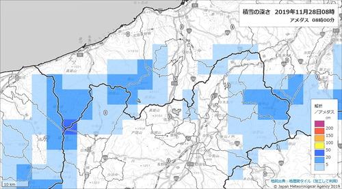 解析積雪深さ191128