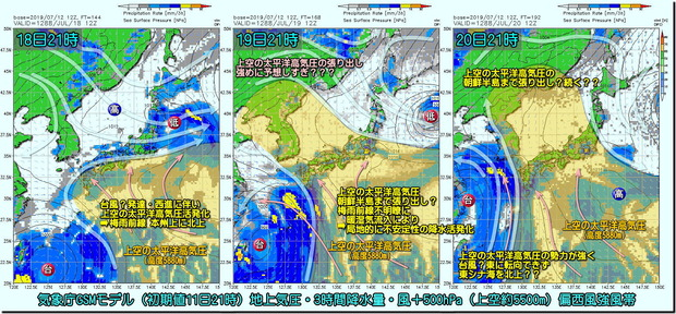 台風GSMモデル190713