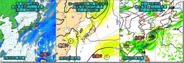 台風モデル比較190829