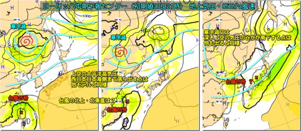 台風25号ECMWF181001