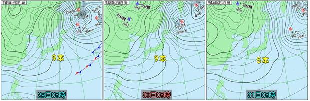 実況天気図比較181231