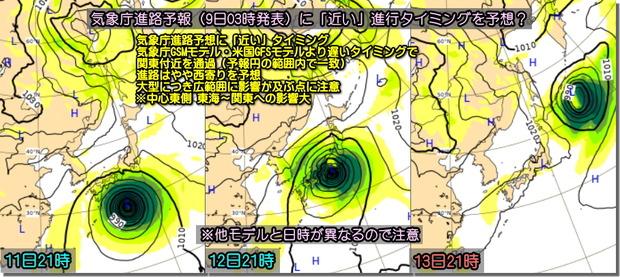 台風ECMWF191009