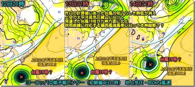 台風ECMWF191005