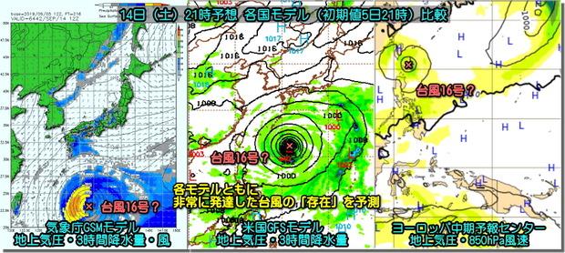 次の台風モデル比較190906