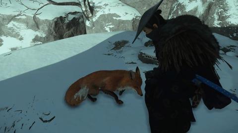 ゴーストオブツシマ 狐との戯れ