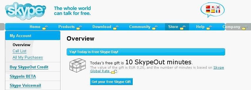 Free Skypeout Day
