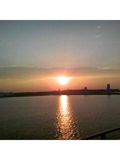 東京湾到着!