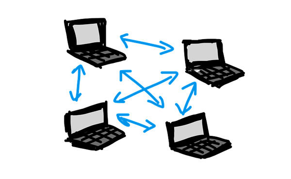 P2P(ピアツーピア)方式の特徴・仕組み