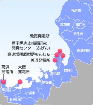 福井県 原子力マップ