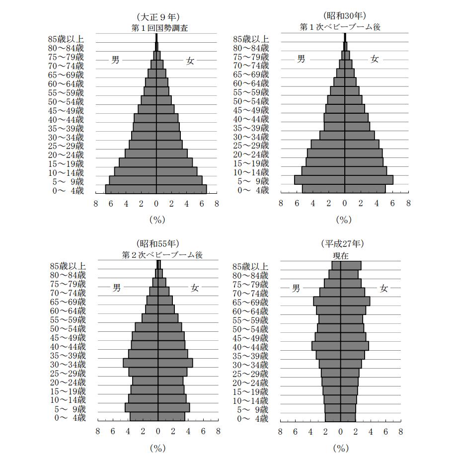 ピラミッド 形 人口