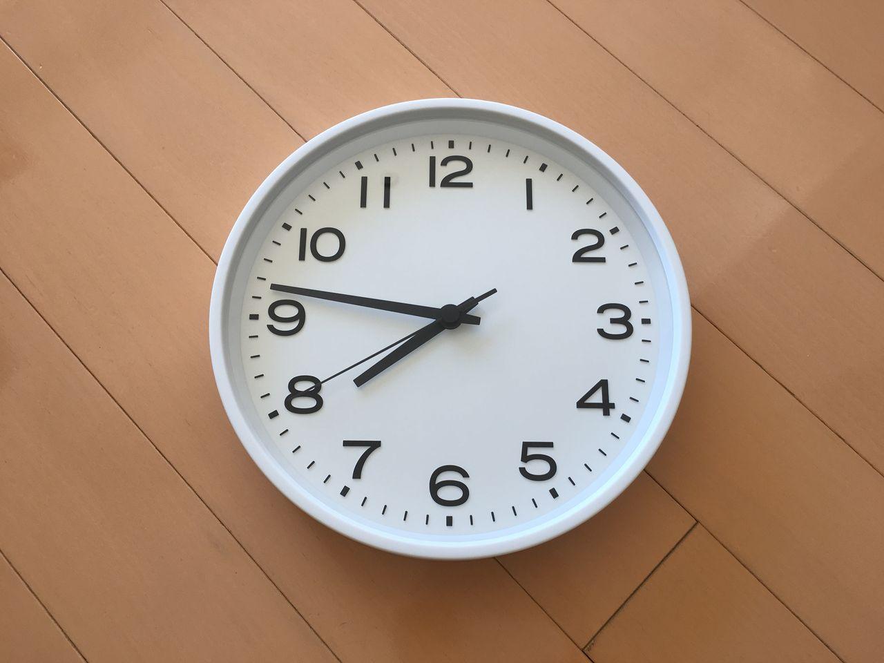 じぶんで読める時計,無印良品