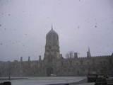 snow in the crist church