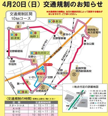 交通規制のお知らせ@交野マラソンwebsite