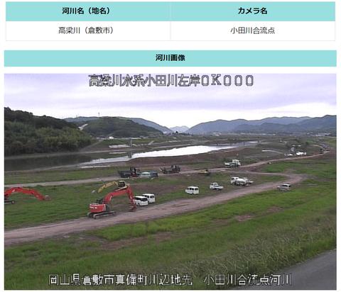 中国地方整備局HP小田川合流点上流
