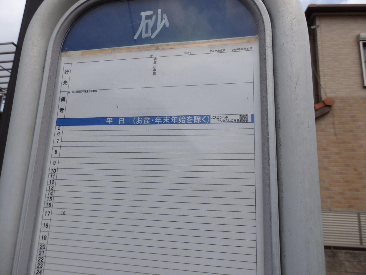 京阪バス 砂バス停(四條畷市) : 交野が原道草