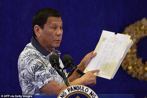 【フィリピン】ドゥテルテ大統領が突然公共の場での電子タバコ禁止令を出す:直後に全ての違反者への逮捕命令が発表される 1120