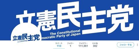 立憲民主党twitter
