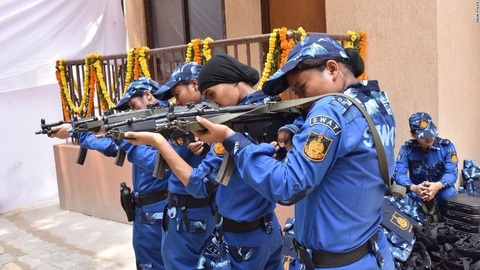【インド】全員女性のSWATチームが初登場、攻撃ライフルも装備