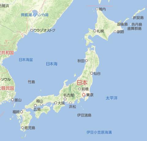 【日本海表記問題】教科書の地図に「東海」と単独表記していた国は、韓国を除く1ヵ国だけだったことが判明