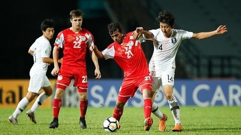【サッカー】韓国、タジキスタンにまさかの敗戦・・・決勝に進んだ日本との韓日戦ならず U-16アジア選手権準決勝