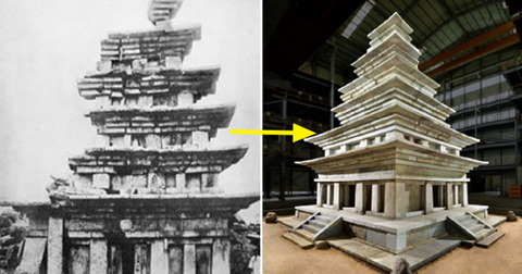 【韓国】 日本が覆ったコンクリートはがしに20年、弥勒寺址石塔の修理完了