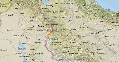 イランイラク地震震源地