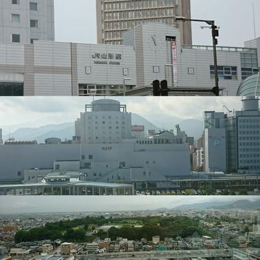 山形駅と霞城公園