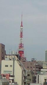 東京タワー。先端が少し曲がってしまいました