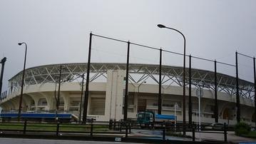 名護球場。来春完成です