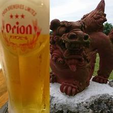 オリオンビールとシーサー