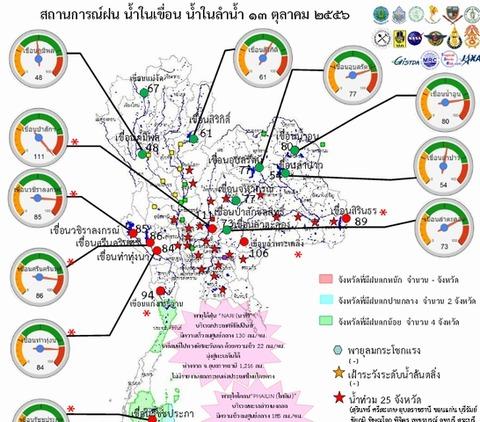 タイ洪水2013