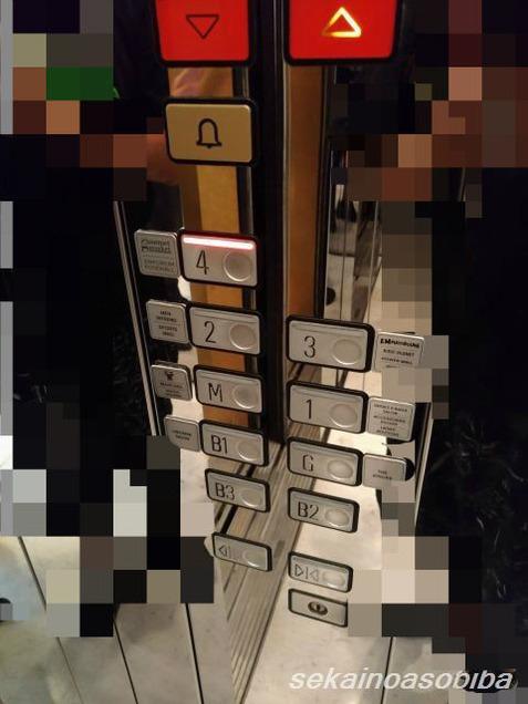 エンポリアムのエレベーター表示階