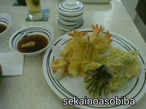 レストラン富士の天ぷら盛り合わせ