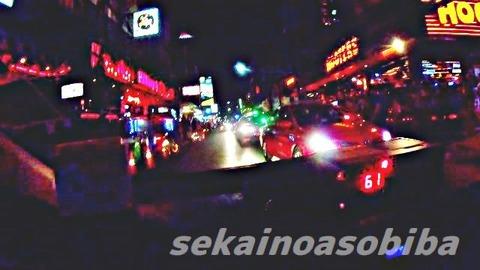 深夜のタクシー