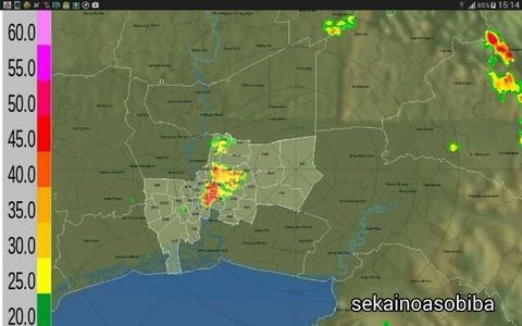 最近のバンコク都心は雷ガラガラドカーンと土砂降り
