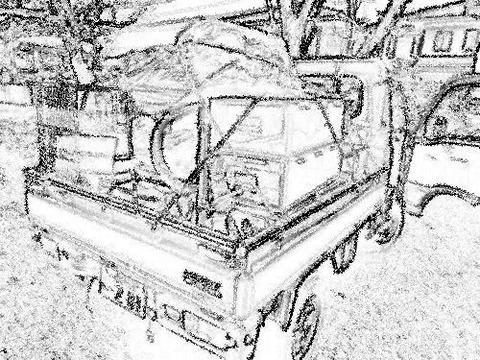 軽トラ荷台en