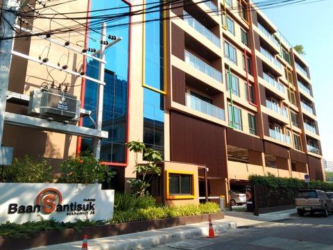 偶数側に出来た新築アパート「Baan Santisuk」