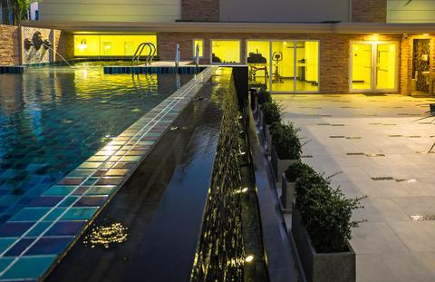 Swimming Pool Evening