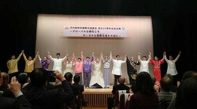 レトラン学院、河内長野市国際交流協会25周年式典にて