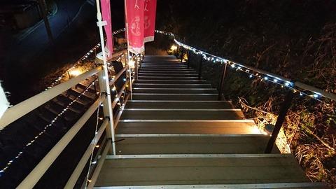 くろまろの郷から花の文化園への階段