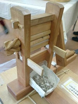 綿繰り機、ふるさと歴史学習館で撮影